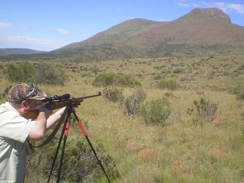 Adrian Sailor hunting in South Africa